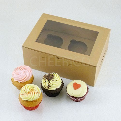 2 Cupcake Kraft Window Box($1.85/pc x 25 units)