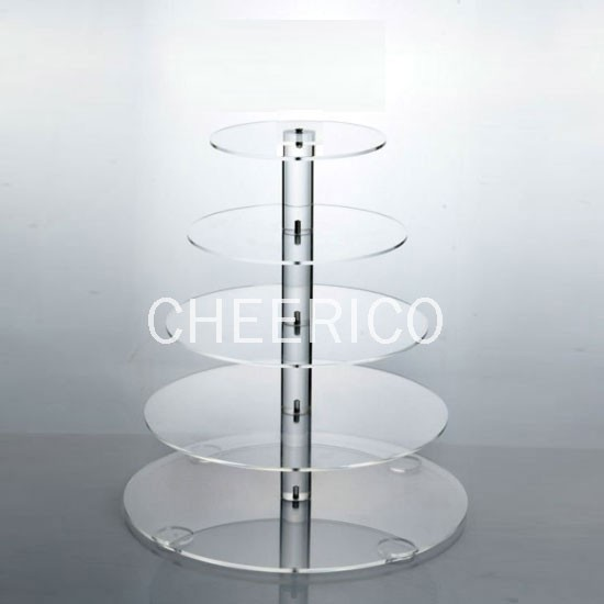 5 Tier Maypole Acrylic Cupcake Stand