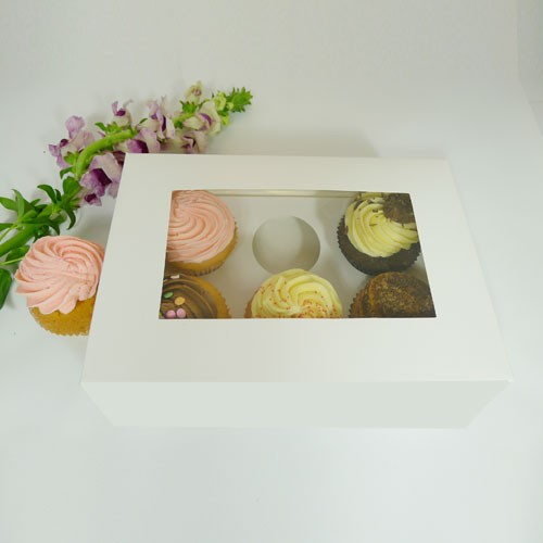 6 Cupcake Window Box w flexi hole($2.55/pc x 25 units)