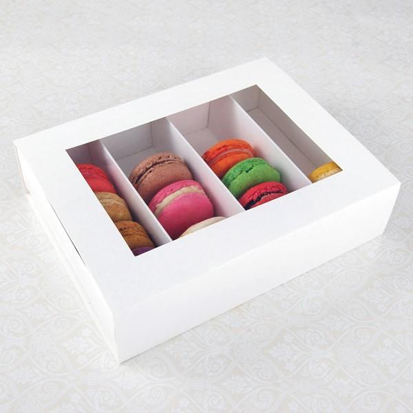 24 Macaron White Window Boxes ($5.00/pc x 25 units)