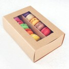 12 Kraft Brown Window Macaron Boxes ($3.50/pc x 25 units)