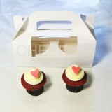 2 Cupcake Window Box with Handle($1.30/pc x 25 units)